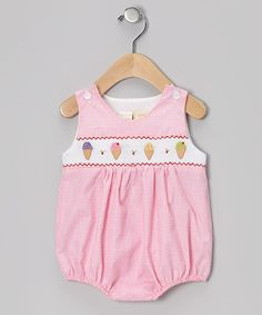 Take a look at this Pink Ice Cream Smocked Bubble Bodysuit - Infant by Carriage Boutique on #zulily today!