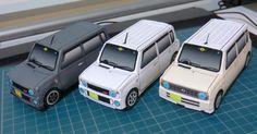 Papercraft 'Suzuki Lapin' (x 4)