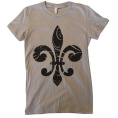 Fleur-de-lis tee. Always loved fleur-de-lis.  As it seems, they have a relatively important significance in the history of my country.