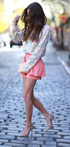 #summer #fashion / floral print + pink