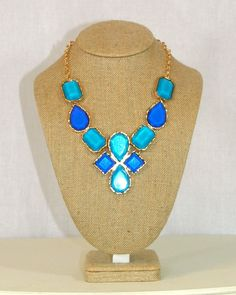 Janell Necklace in Blue by Violet Clover