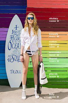 Biała #koszula damska #troll Troll, Summer 2015, Model, Scale Model, Models, Template, Pattern, Mockup