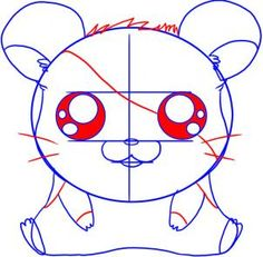 how to draw anime hamster