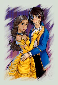Katara and Zuko as Belle & Beast - read a fanfic with this theme. It was wonderful.