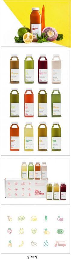 깨끗한 주스 패키지 디자인 The Juice Cleanse