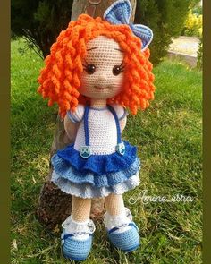 Gorgeous Amigurumi Dolls Love this sweet travelling doll crochet amigurumi pattern!As you know, I love amigurumi! And I'm so impressed by the lovely amigurumi doll patterns that are a Yazıyı Oku… Make your child your own toy … my the is Doll Dress Amigurumi Tutorial, Crochet Doll Pattern, Crochet Patterns Amigurumi, Amigurumi Doll, Unique Crochet, Cute Crochet, Crochet Crafts, Crochet Projects, Crochet Teddy