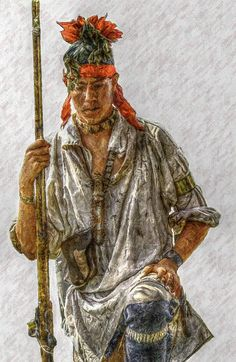 Young Delaware Indian Portrait Art Print by Randy Steele Native American Artwork, Native American Artists, Native American History, American Indians, American Symbols, Native Indian, Native Art, Indian Tribes, Native Style