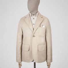 What you've got here is a short, one-buttoned, tailored jacket, made with cloth from the British Isles. Work Jackets, Tailored Jacket, Colour, Blazer, Coat, Summer, Clothes, Fashion, Color