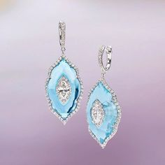 @boghossianjewel ・・・ Summer's inspiration with this diamond inlaid into sky blue topaz earrings. #boghossianjewels #bluetopaz #diamonds #luxury #jewelry #craftsmanship #design #skyblue #gems #intotheblue