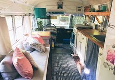 Can you believe that this dreamy, beachy bohemian home is a renovated school bus?! House Bus takes tiny houses to a whole other level.   Small House (Bus), Big Style: Meet Style Maven Julie Puckett -- http://dotbo.co/29ouZ2d