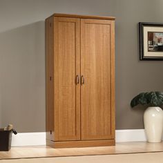 sauder select storage cabinet in sienna oak - Sauder Storage Cabinet