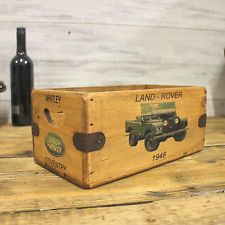 Land Rover Vintage Box Great Gift Wooden Storage Crate Series 1 Defender