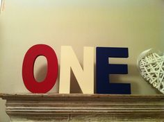 Handpainted Wooden Letters - Set of 3 - 15cm - Plain or Distressed £18.50