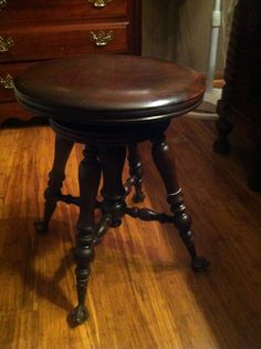 Antiques Striking Art Nouveau Piano Stool With Adjustable Height Buy One Get One Free