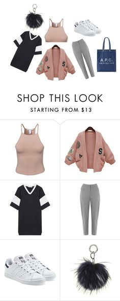"""""""mannequinxo x Preppy // Bella Hadid"""" by xoflawlessmannequinxo ❤ liked on Polyvore featuring NLY Trend, WithChic, T By Alexander Wang, Oasis and adidas Originals"""