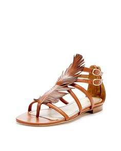 Cult Feather Sandal by Jerome C. Rousseau at Gilt