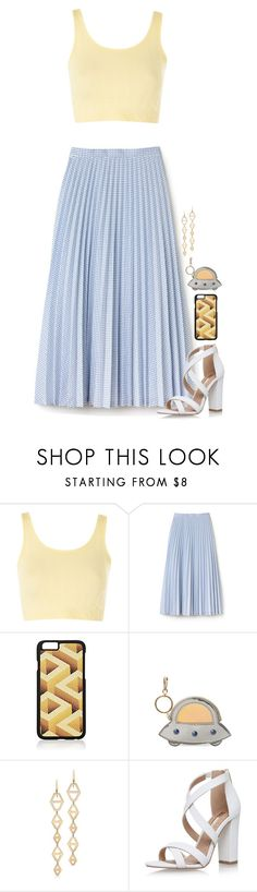 """Untitled #1970"" by tapping-raven ❤ liked on Polyvore featuring Topshop, Lacoste, Barneys New York, Charlotte Olympia, Walters Faith and Miss KG"