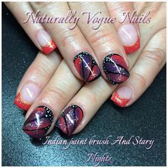 butterfly gel nails, using our nail innovationz  gel polish