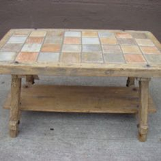 Marvelous DIY Tiled Coffee Table, Nice For Outside