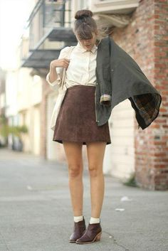 Buttoned Suede Skirt | Skirts, Light blue and Suede skirt