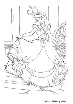 Cinderella Coloring Page Disney Colouring