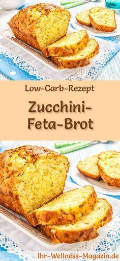 Rezept für Low Carb Zucchini-Feta-Brot: Kohlenhydratarm, ohne Getreidemehl, gesund und gut verträglich ... #lowcarb #brot #backen