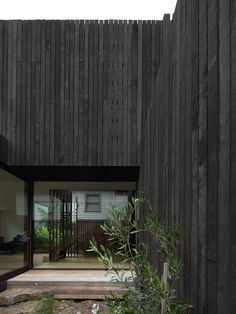 House A is a modern indoor-outdoor connection, designed by Walter&Walter. Casa Patio, Timber Cladding, Black Cladding, Ground Floor Plan, Timber House, House Goals, Black House, Exterior Design, Interior Architecture