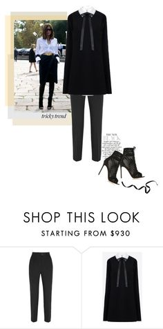 """""""Put a dress over your pants"""" by theitalianglam ❤ liked on Polyvore featuring Dolce&Gabbana, Valentino, Gianvito Rossi, women's clothing, women's fashion, women, female, woman, misses and juniors"""