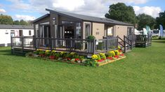 Fensys UPVC luxury decking and Swift whistler lodge holiday home