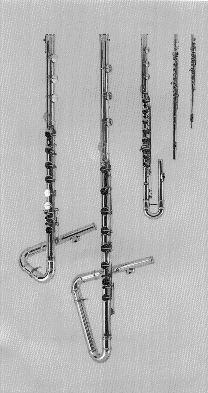 More flutes, including two lower than bass.