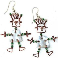 Delightful dancing girl earrings made from recycled silver tin and copper wire , accented with colorful Maasai beads (bead color may vary). Lead free silver metal hooks, earrings hang approximately inches,Meet the Artisans . Fashion Jewelry Stores, Fair Trade Jewelry, Silver Beads, Silver Metal, Silver Ring, Brass, Boho Bags, Free Silver, Girls Earrings