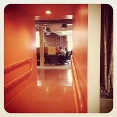 HubSpot's #orange corridors