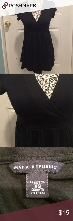 Banana Republic Black Blouse Perfect for work. Excellent condition Banana Republic Tops Blouses