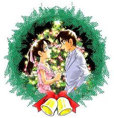 """ Detective Conan Christmas by Aoyama Gosho "" Merry Christmas~ Magic Kaito, Manga Art, Manga Anime, Detective, Heiji Hattori, Black Butler Manga, Detektif Conan, Gosho Aoyama, Kudo Shinichi"