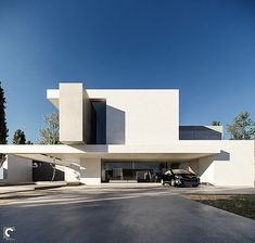 Minimal Architecture, Modern Architecture House, Residential Architecture, Architecture Details, Modern House Facades, Modern Buildings, Facade Design, Exterior Design, Modern Villa Design
