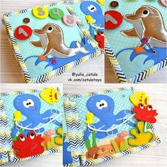 Сюжеты из книги Море: дельфинчик с цифрами от 1 до 5 и Осьминожек у дельфина цифры на магнитных кнопочках ✌ а у осьминожки трое друзей: крабик и рыбка на пришивных кнопках и маленькая рыбешка - свободная шнуровка #развивающаякнижка #felt #фетр #quietbook #quiet_book #babybook #развивающаяигрушка #раннееразвитие #чемзанятьребенка #мелкаямоторика #quietbook_catula #моймалыш #скоромама #ямама #подарок #купитьподарок #купитьразвивающуюигрушку #дляноворожденного #длямальчика #1год #2года #р...