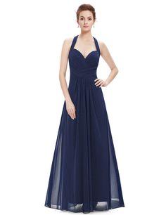 4077b2e2ed Halter Neck Evening Dress with Sweetheart Neckline | Ever-Pretty #bridesmaid  #bridesmaids #