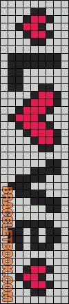 Alpha Friendship Bracelet Pattern #4513 - BraceletBook.com