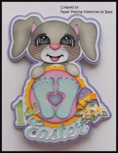 Baby First Easter Premade Paper Piecing Die Cut for Scrapbook Page by Babs