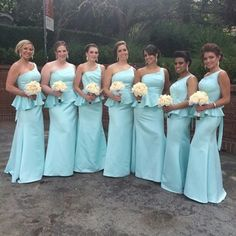 2014 Bridesmaid Dresses New Trends One Shoulder Long Style Satin Bridesmaid Gowns Peplumn Maid of Honor Gowns Satin Bridesmaids Gowns, Beach Bridesmaid Dresses, One Shoulder Bridesmaid Dresses, Maxi Dress Wedding, Bridal Dresses, Dress First, New Dress, Cheap Gowns, Maid Of Honor