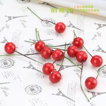 Household ornaments Christmas decorations red mini Christmas fruit small fruit shoot props Assistant background