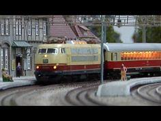 Modelleisenbahn Hessisch Lichtenau Spur H0 Holle Modellbahn mit Rheingold-Express - YouTube