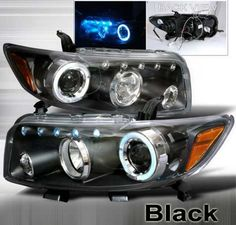 xB Headlights by Junyan Fits: Scion xB door Wagon) Angel Eye Headlights, Scion Xb, Large Truck, Projector Headlights, Aftermarket Parts, Angel Eyes, Truck Parts, Halo, Accessories