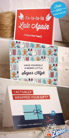 Cheeky printable holiday cards. A little sweet, and a little sassy!
