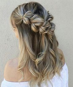 Breathtaking Half up Braided Long Hairstyles 2018 for Prom