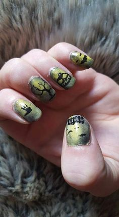 #Hallowe'en #nail art #film inspired #nails #manicure