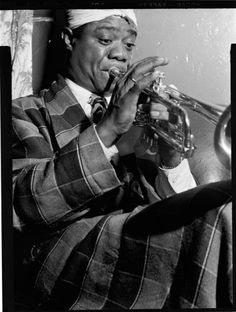 Louis Armstrong, 1946, New York City.