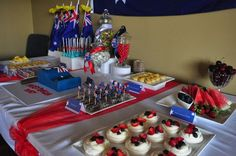 Nicole V's Australia Day / - Photo Gallery at Catch My Party Australia Day, Dessert Table, Birthday Candles, Party, Desserts, School, Food, Travel, Fiestas