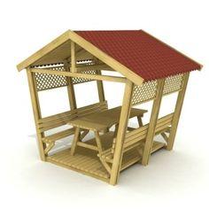 MPS 004 1 Wooden gazebo shelter – Officitta Outdoor