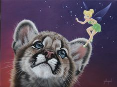 """Sparkle In Their Eyes"" by Schim Schimmel Environmentalist, Disney And Dreamworks, Animal Rights, All Art, Tinkerbell, Digital Art, Fantasy, Drawings, Cats"